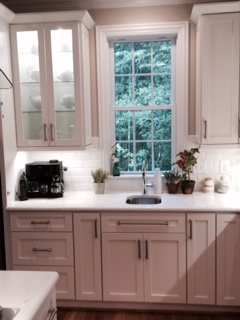 2015 Lawing Marble Modern White Kitchen North Carolina